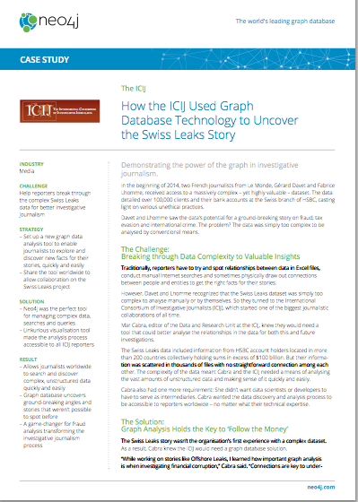 How the ICIJ Used Graph Database Technology to Uncover the Swiss Leaks Story